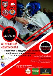 Открытый Чемпионат и Первенство Свердловской области по боевым единоборствам WTKA/WCSA/ICLAS, посвященный Дню Героев Отечества.